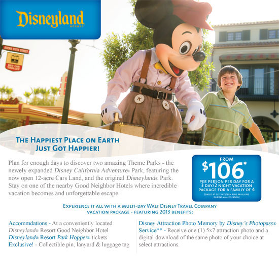 Disneyland at Interline rates